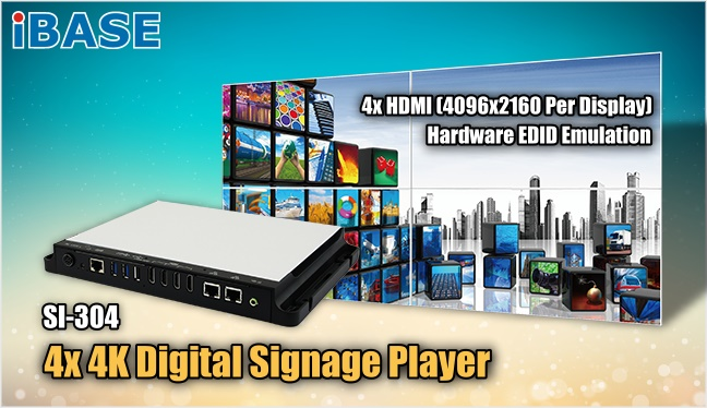 Robust 4x 4K Digital Signage Player - SI-304