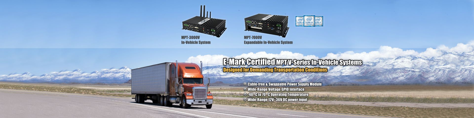MPT V-Series In-Vehicle Computer Systems