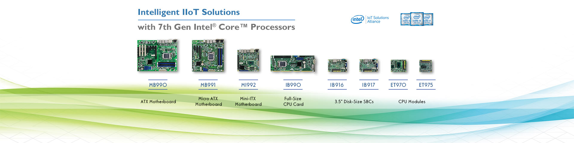 IBASE Intelligent IIoT Solutions with 7th Gen Intel® Core™ Processors
