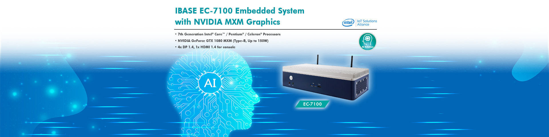 IBASE Unveils EC-7100 Embedded System with NVIDIA MXM Graphics Card