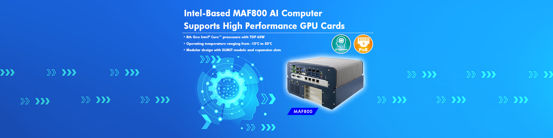 Intel-Based MAF800 AI Computer  Supports High Performance GPU Cards