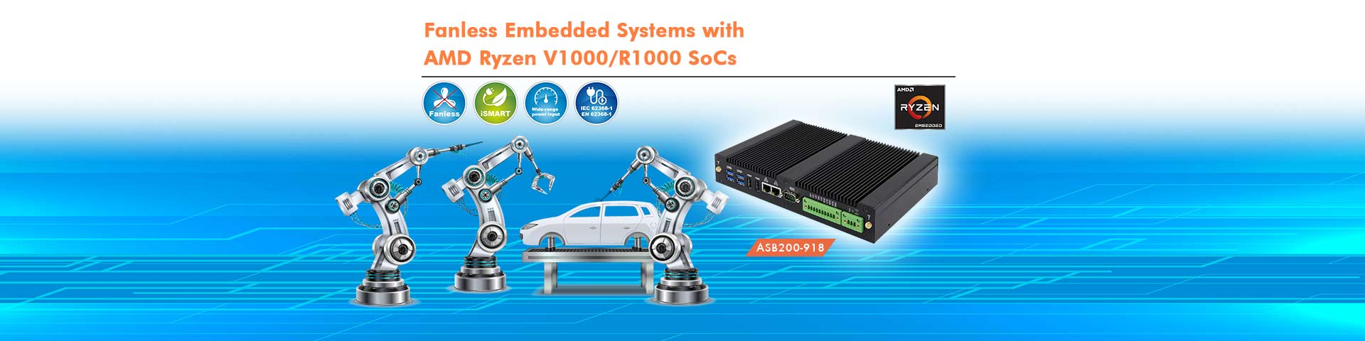 Fanless Embedded Systems with AMD Ryzen V1000/R1000 SoCs